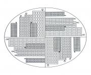 Printable free mandala to color new york buildings  coloring pages